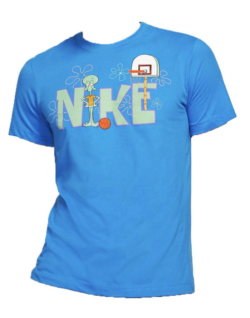 Nike Kyrie x Spongebob Dri-Fit Squidward Tee light Photo Blue