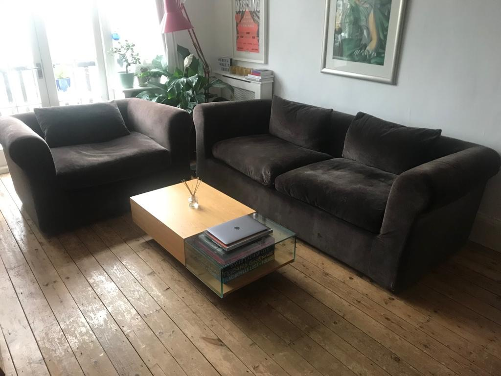Habitat louis 4 seater sofa and love chair