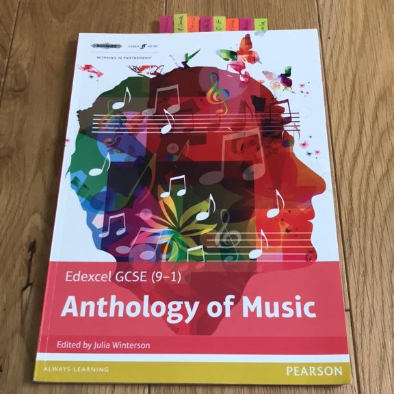 GCSE MUSIC ANTHOLOGY