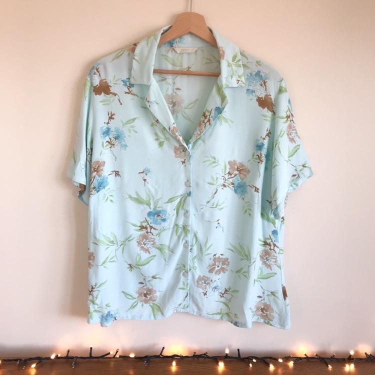 Marks & Spencer Turquoise Blue Collared Short Sleeve Shirt