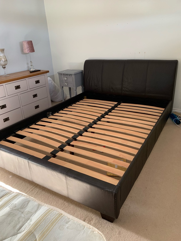 Leather Kingsize bed