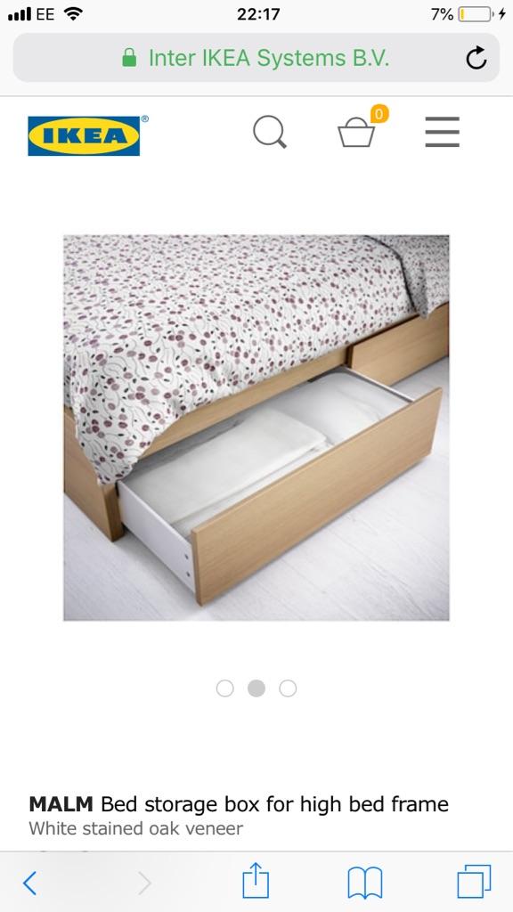 2x Ikea Malm Under Bed Storage Village