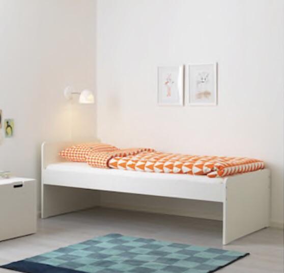 Standard Single bed frame with slatted bed base and Pocket Sprung Mattress