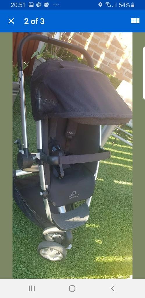 Quinny buzz pushchair pram stroller black