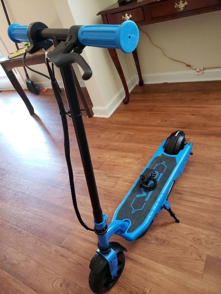 Viro rides scooter