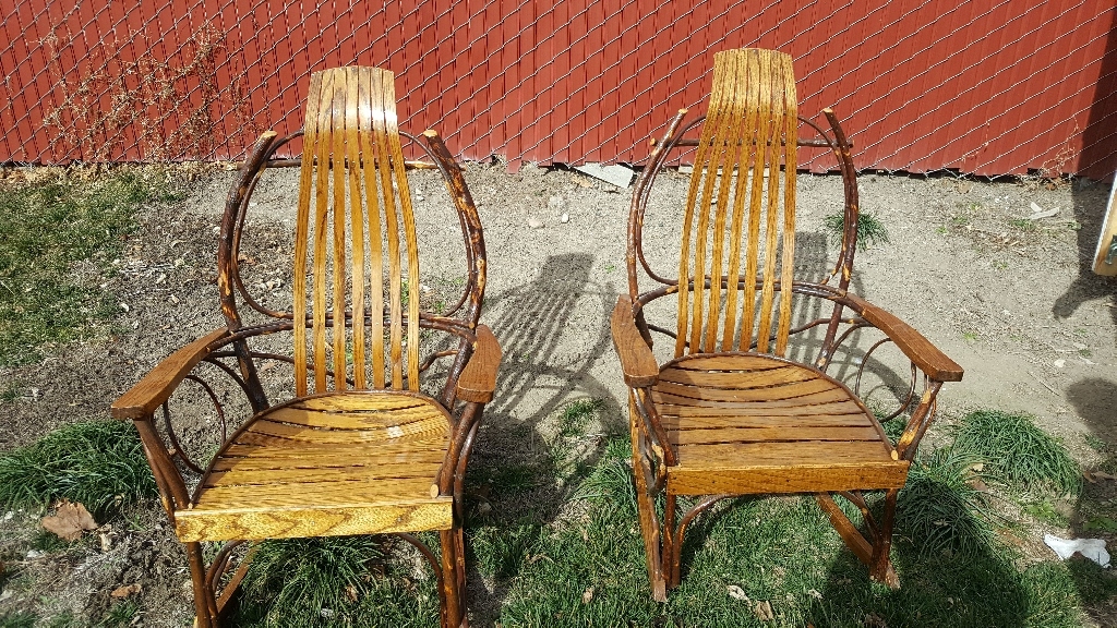 Hand made Amish rocking chairs