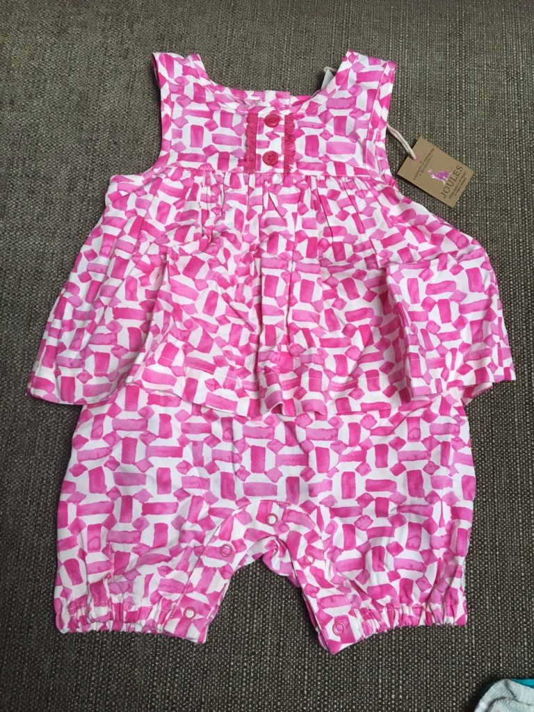 Baby girls 3-6 month joules outfit NEW