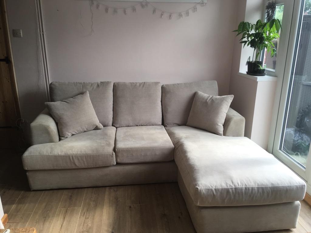 Next Home Stratus Small Left Hand Side Corner Sofa - Light Grey