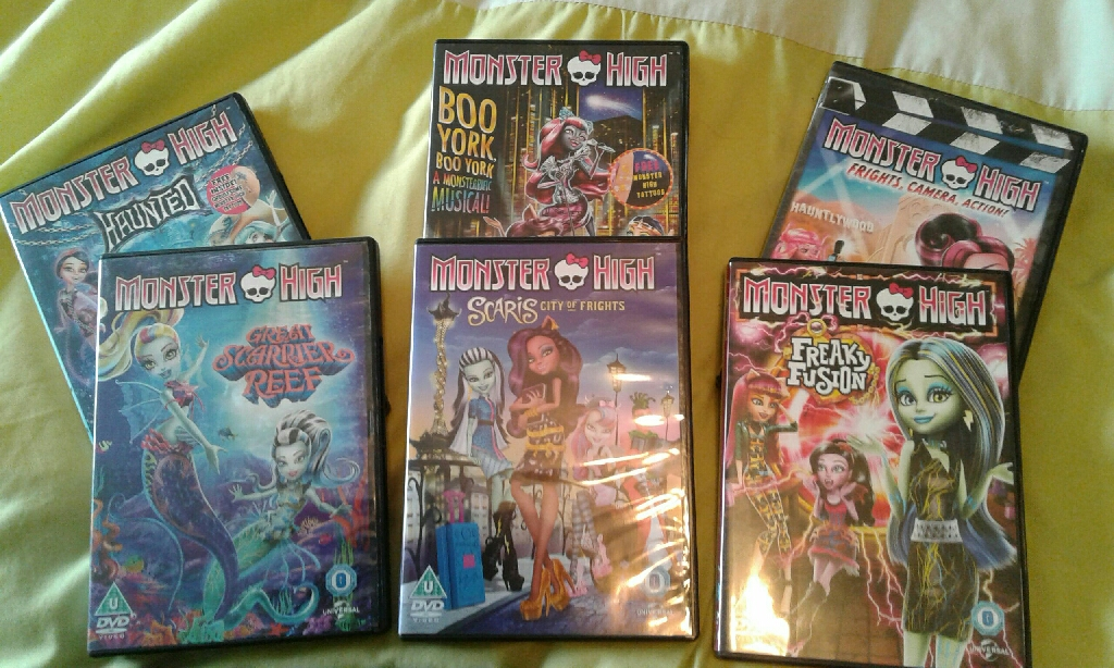 Monster high dvd's