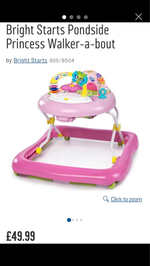 Bright Starts Pondside Princess Walk-a-bout Walker