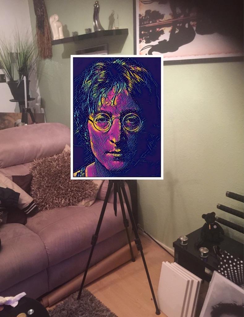 John Lennon Canvas print wall hanging ready to display