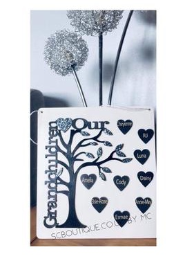 Personalised hanging wooden plaque
