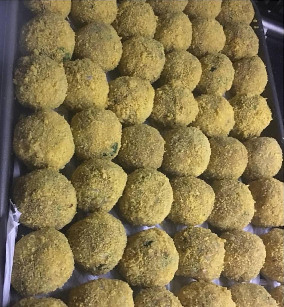 Homemade chicken cheese balls