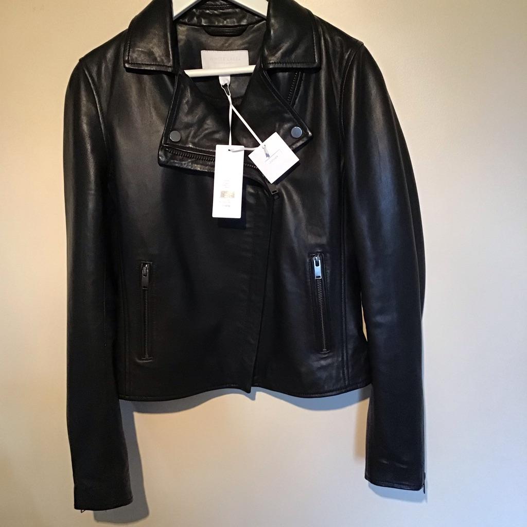 The White Company leather biker jacket size 6