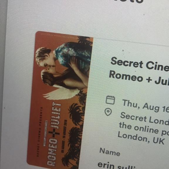 Secret Cinema- Romeo and Juliet