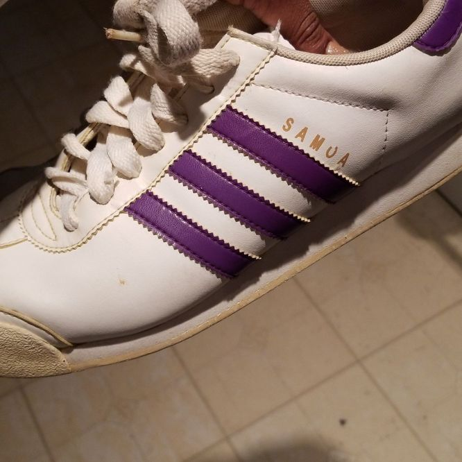 Vintage purple Adidas shoes