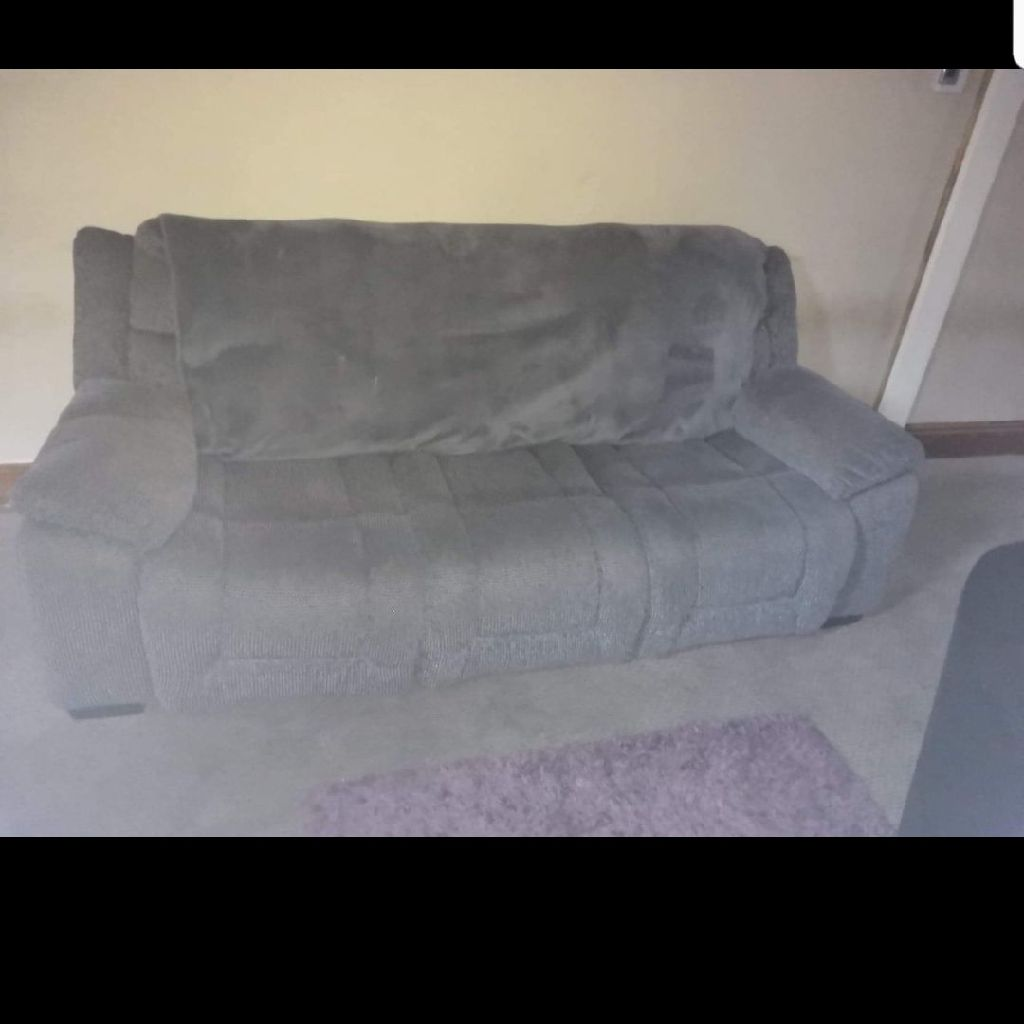 3 seater grey settee
