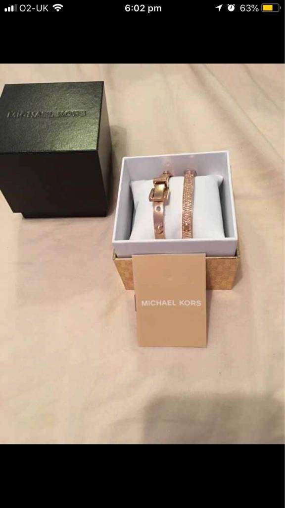 Genuine Michael Kors set of bracelets