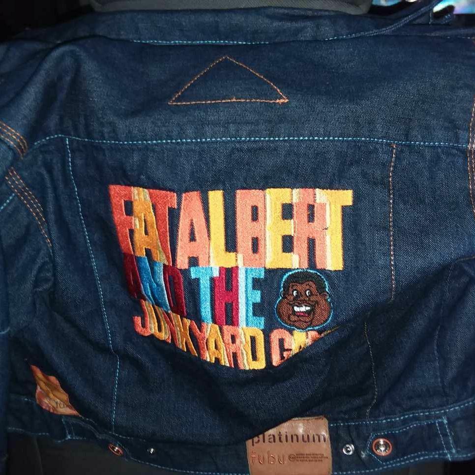 Platinum Fubu Fat Albert Denium Jacket Size 5