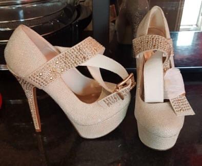 Diamanté high heels