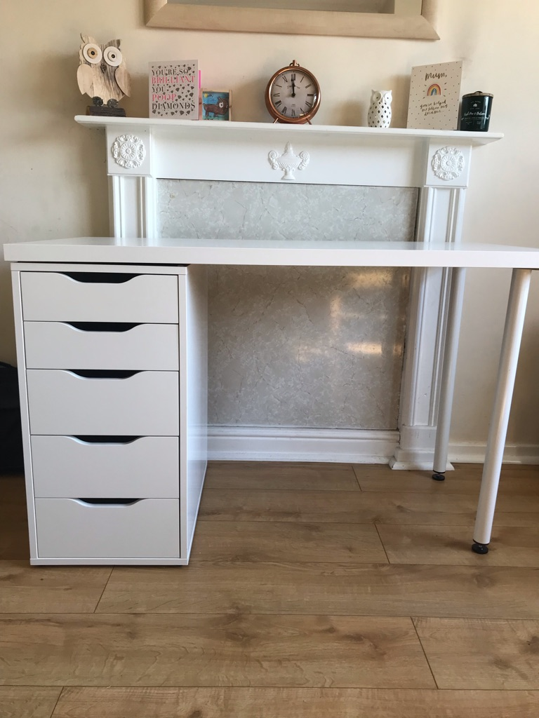 Ikea Alex drawers with top