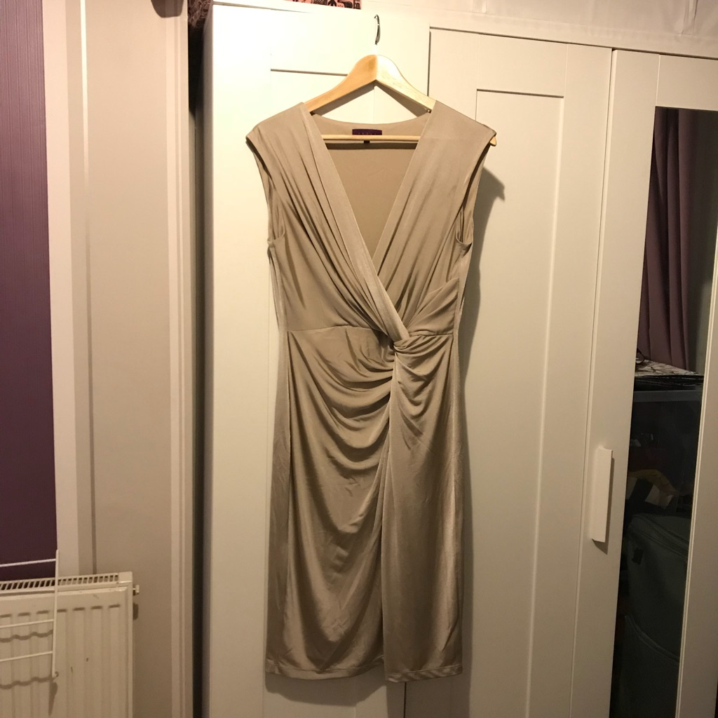Gold Debut dress - size 14