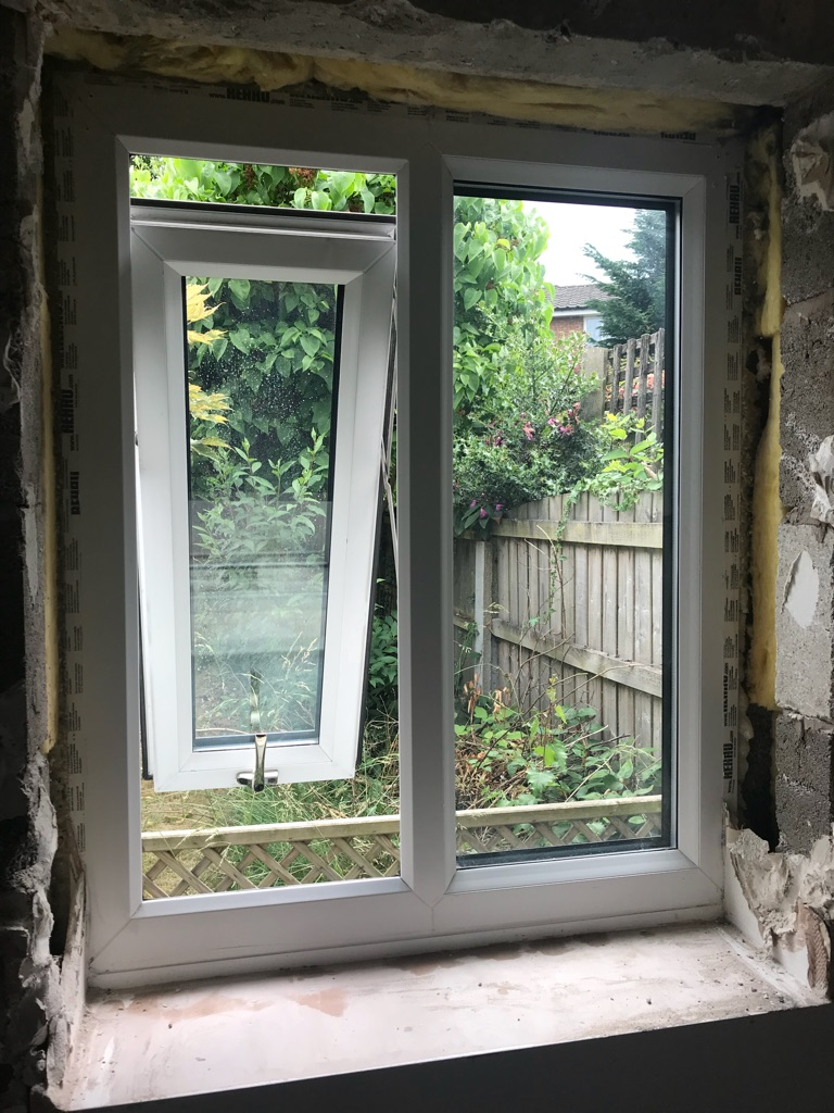 2x REHAU kitchen windows