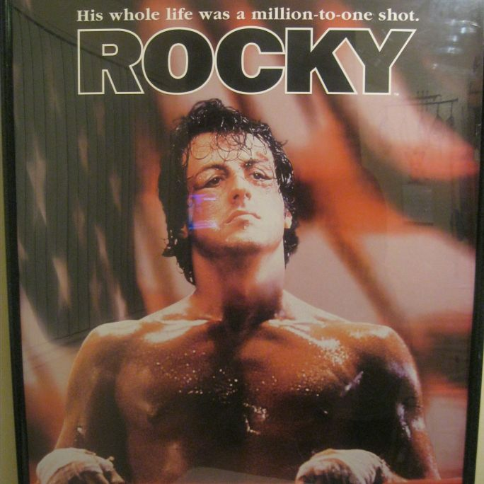 "Classic "" Rocky Movie "" Theatrical Release Mounted Framed Poster"