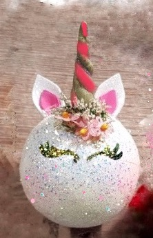 Unicorn ornaments personalised to order