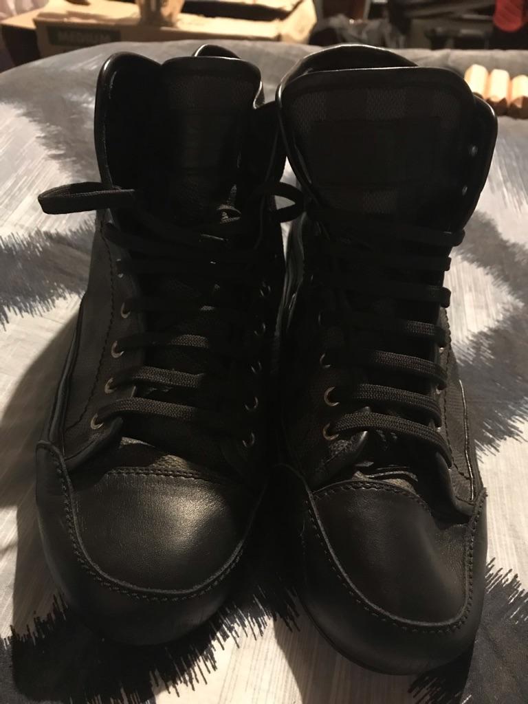Louis Vuitton Damier Black Leather Hi-Tops