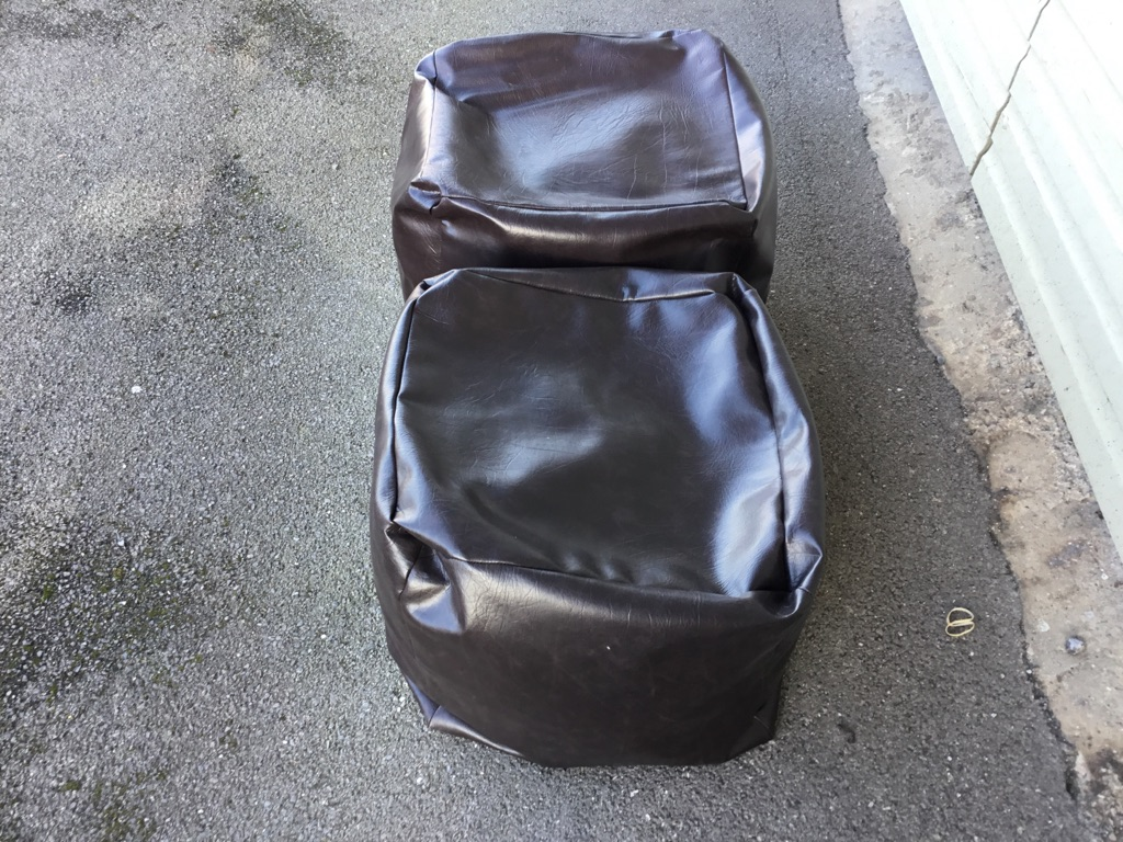 Brown Leather bean bags