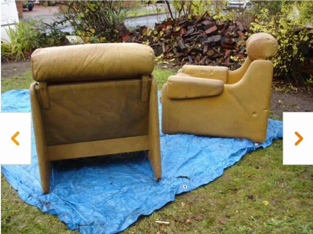 Mid Century Original Leather Armchair