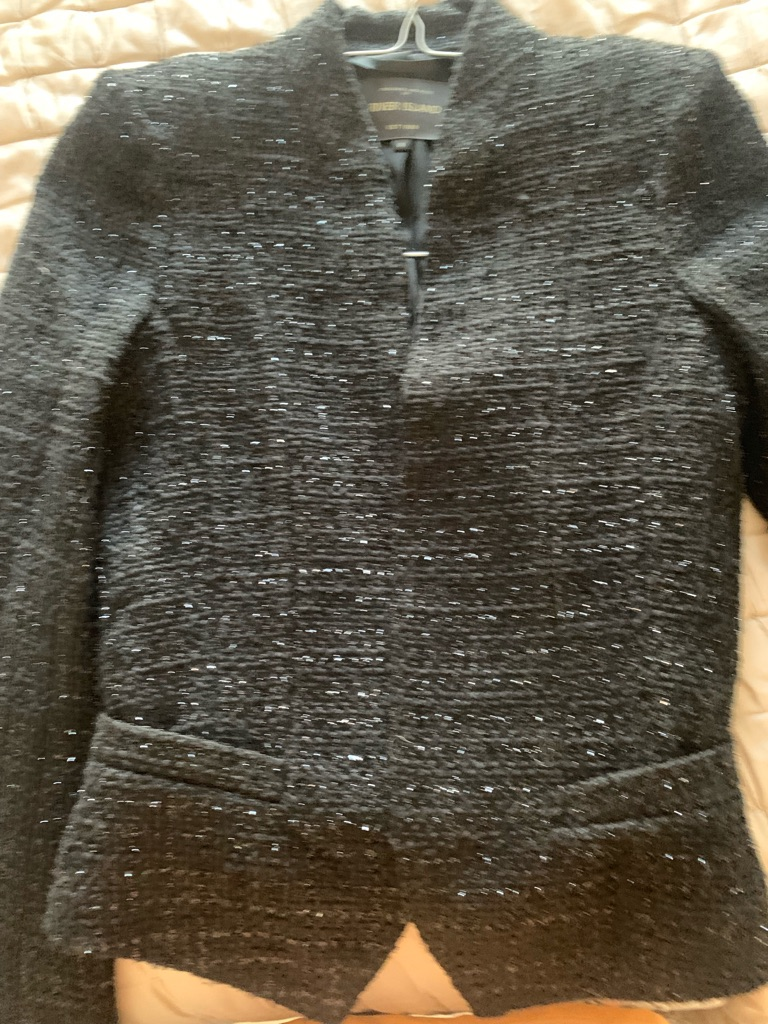 River Island  faux Tweed Fitted jacket