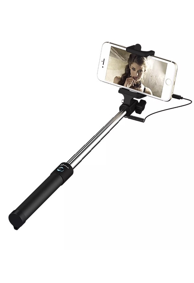 universal Extendable selfie stick In Black No Bluetooth No Battery
