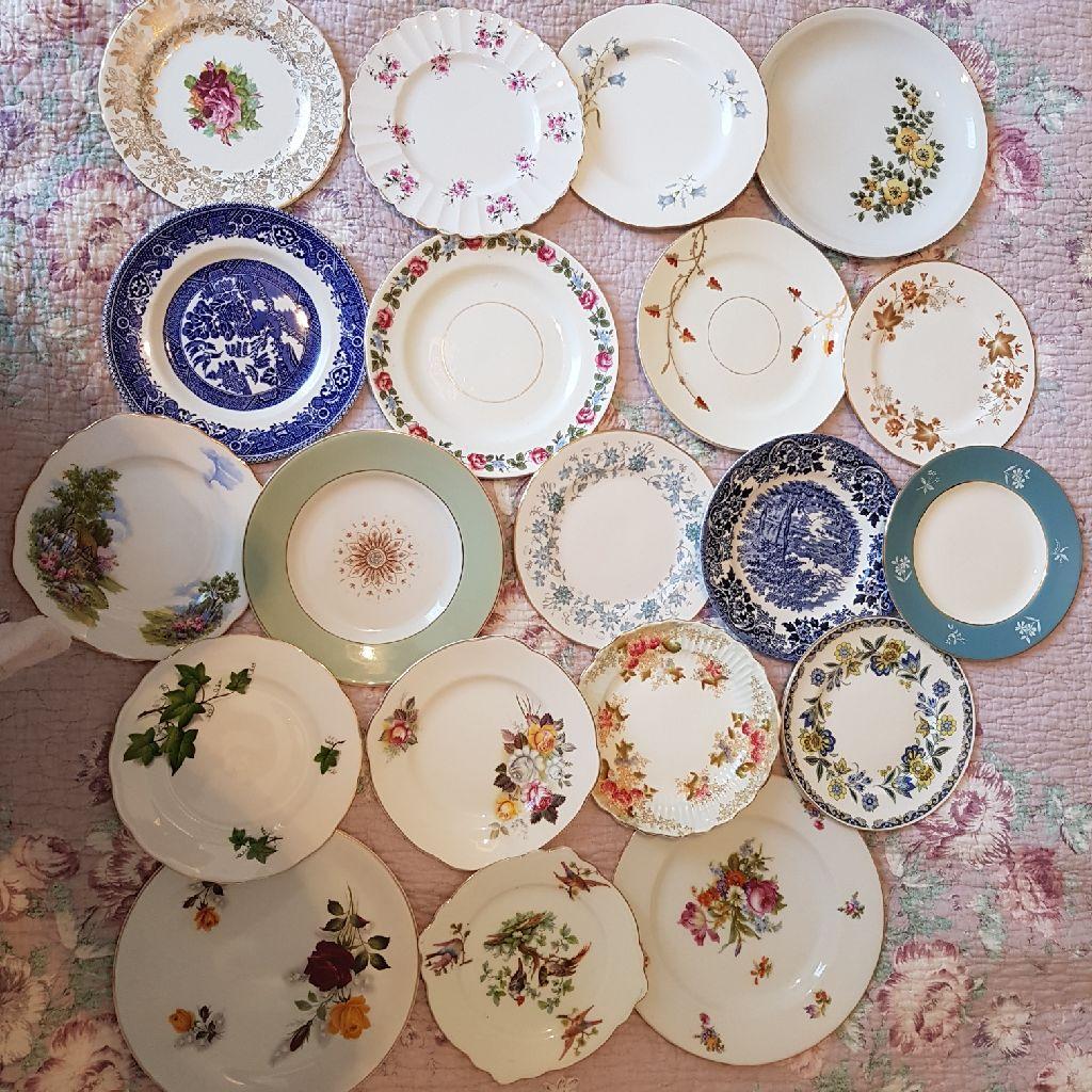 20 x vintage side plates