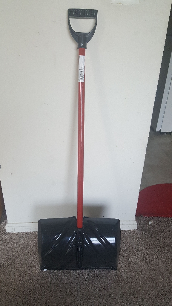 Brand new snow shovel