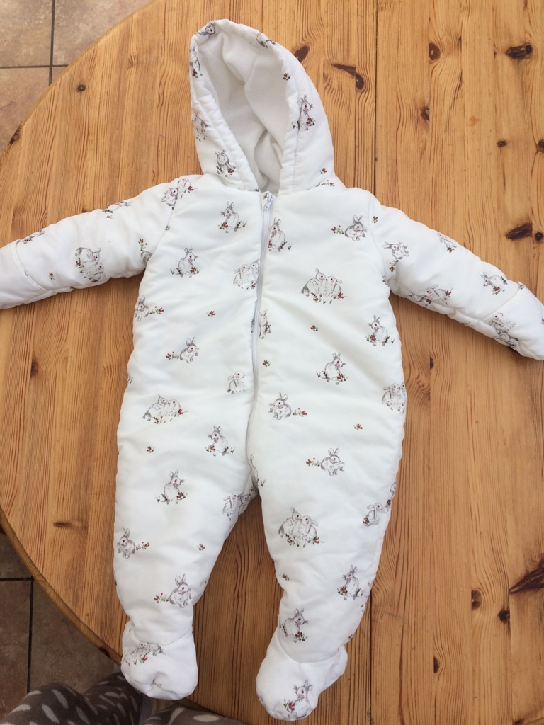Mothercare baby snow suit