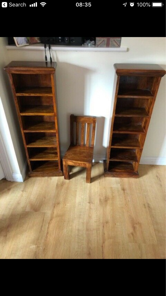 Shelves and small chair