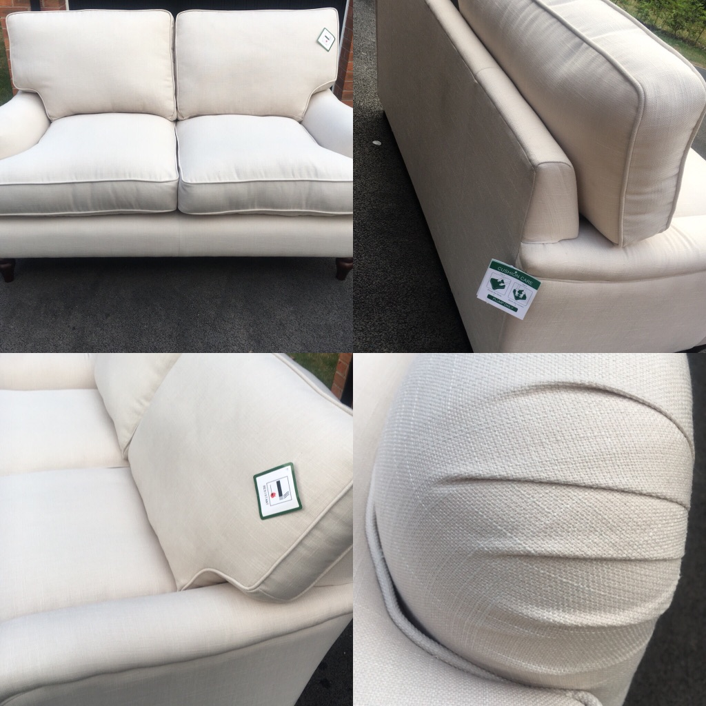 Beautiful brand new cream sofas (2 available)