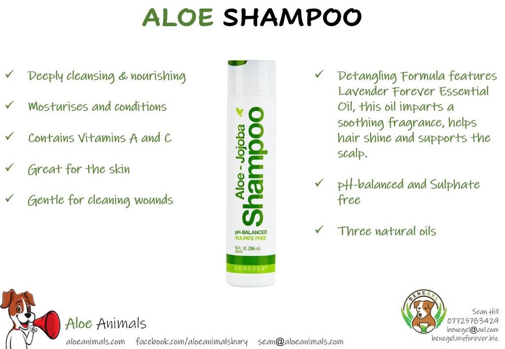 Aloe-jojoba shampoo pH-balanced sulfate free