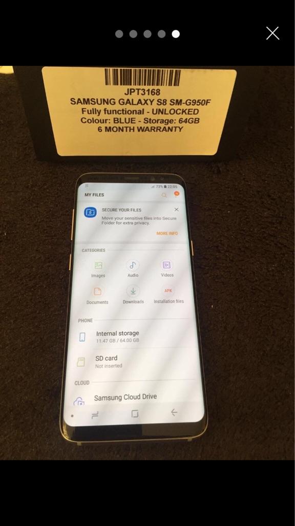 Samsung galaxy s 8 100%original black NEW
