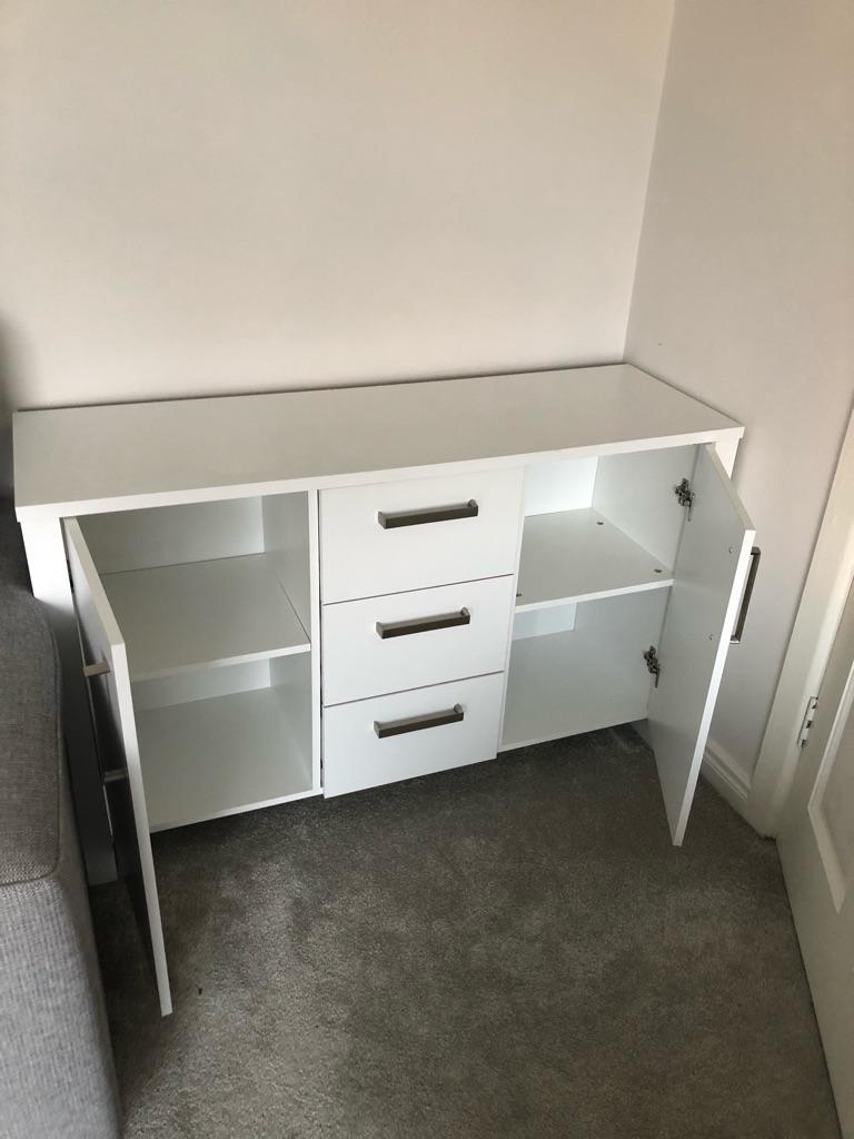 White sideboard