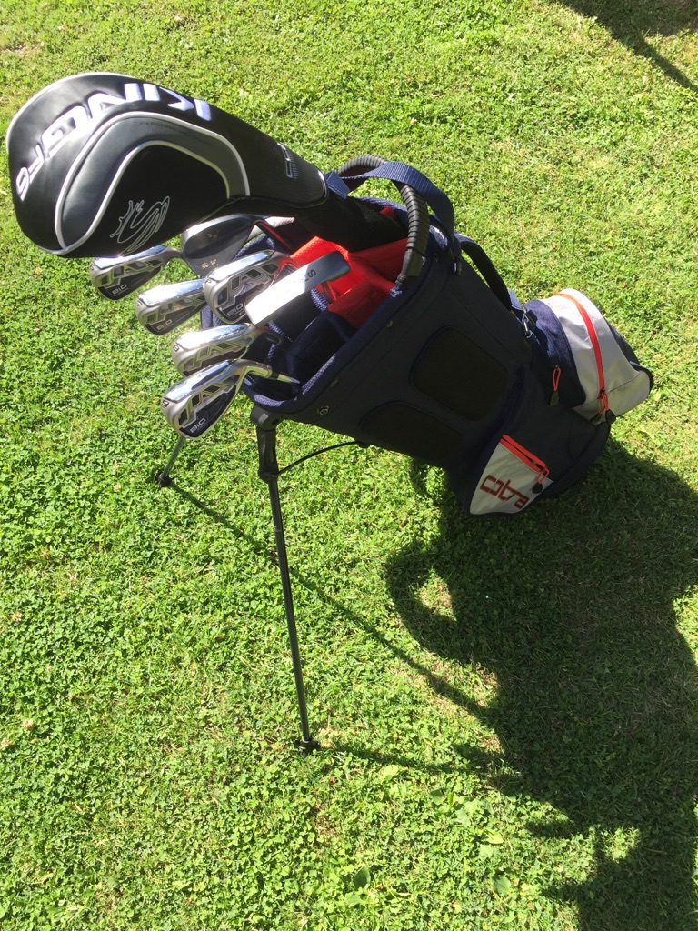 Cobra irons, driver, bag and equipment