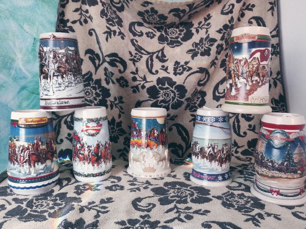 Budweiser Collector Beersteins