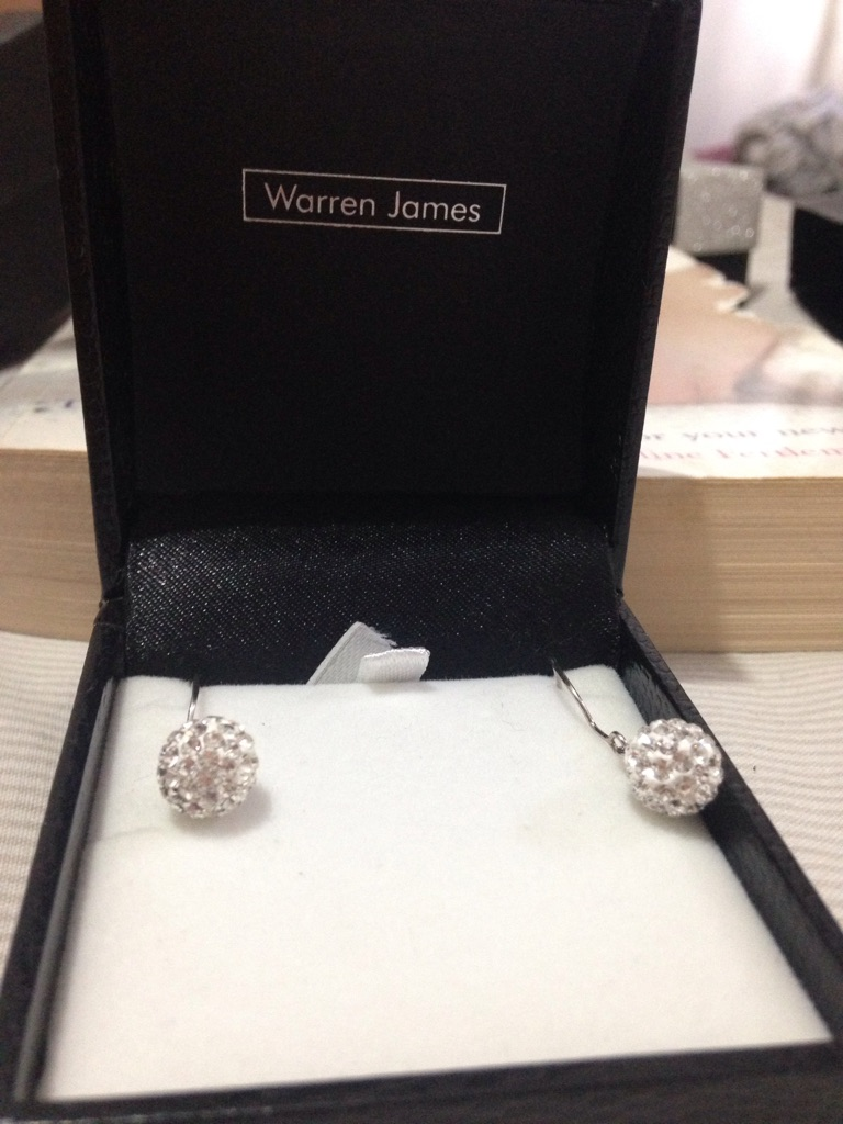 Warren James crystal earrings