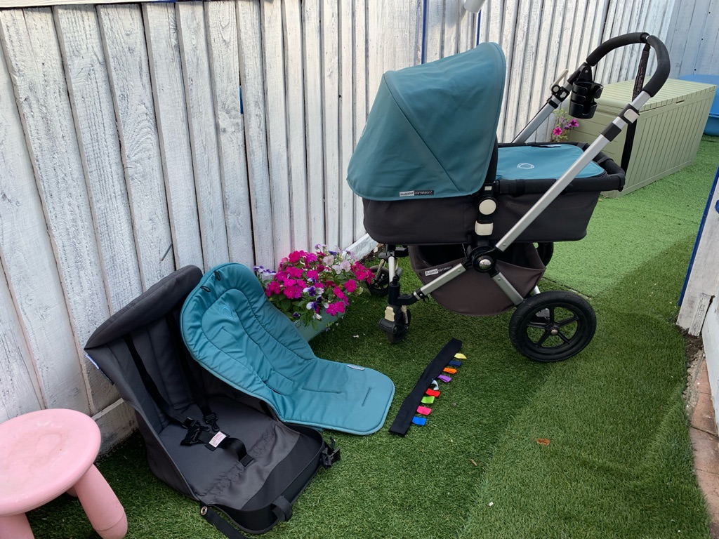 Bugaboo Cameleon 2 Petrol Blue with Extras