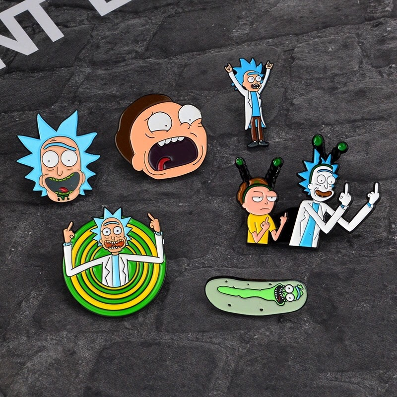 Rick N Morty Badge Set