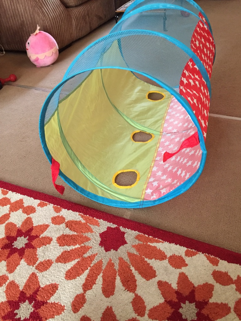 Toddler tunnel and musical train