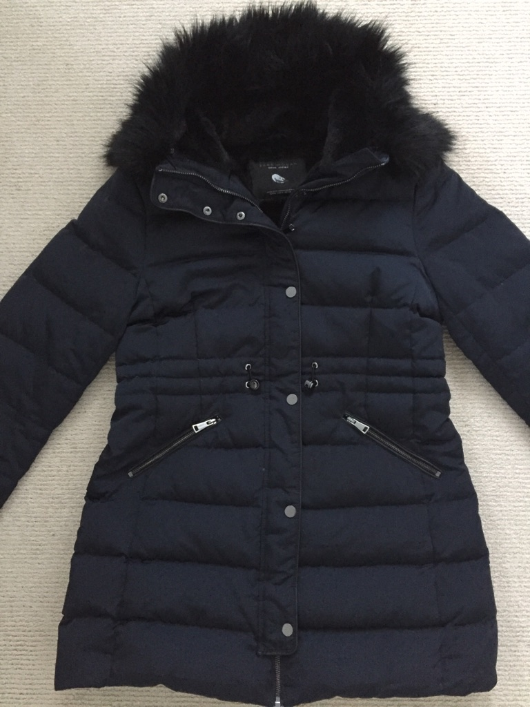 Zara Navy Puffer Jacket - Size Medium