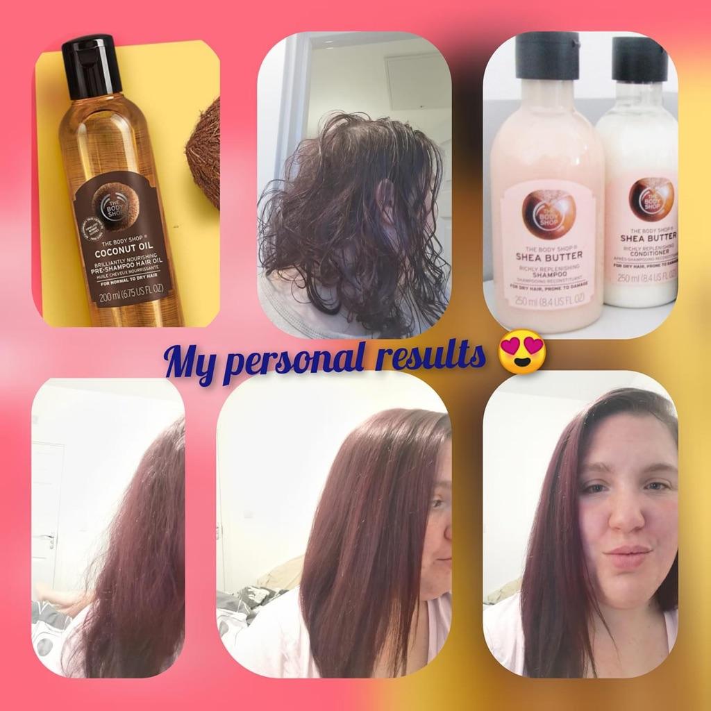 Body shop Shea shampoo and conditioner